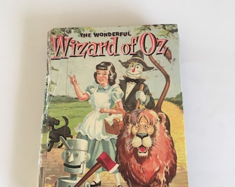 Vintage RARE The Wonderful Wizard of Oz Book 1957 by L.Frank Baum Illustrated by Russell H. Schulz