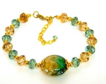 Bracelets for Women Beaded Bracelet Gift for Women Crystal Bracelet Gift for Her Gold Bracelet Simple Bracelet Everyday Bracelet for a Gift