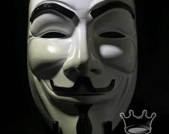 Guy Fawkes/ Anonymous/V For Vendetta/Mask/3d Printed/Gift for him/Superhero/Marvel/Cosplay/Decor