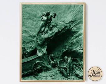 The Embrace - Vintage Style - Art Print