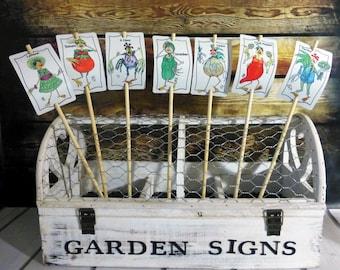 Vegetable Sign 20 Set Garden Marker Stake Name Colorful Weatherproof Urban Garden Fruit