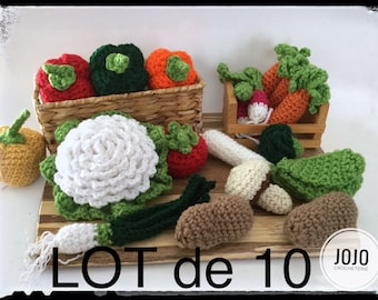 SET of 10 Fruits and vegetables