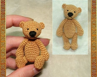 Erwan the bear amigurumi crochet pattern, digital pattern