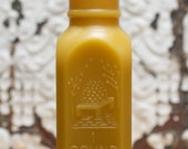 Beeswax Candle - Lg. 1 lb Honey Jar w/ Bee Hive - 1800's