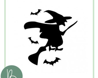 Witch Silhouette SVG File