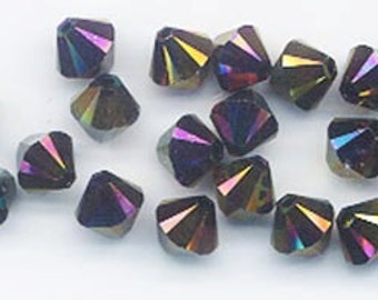 Wow - rainbow dark - Swarovski's newest and most beautiful color - 24 pieces - Art 5328 (bicone) - 6 mm