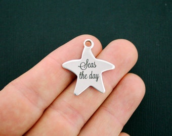 Beach Stainless Steel Charms Starfish - Seas the Day - Exclusive Line - Quantity Options - BFS1055