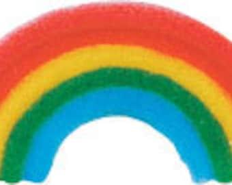 45 Edible Rainbow Sugar Decorations        Simply Darling
