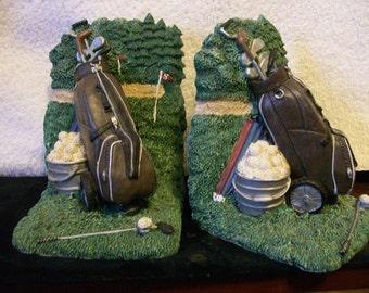 Golfer's Book Ends