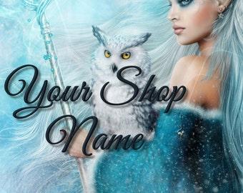 Fantasy Banner Set, Banner Sets, Shop Banner Set, Shop Banner, Graphic Design, Cover Photo, Custom Banner,Premade Banner,