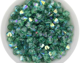 Erinite AB (4mm & 6mm) Swarovski Crystal 5328 Xilion Bicones