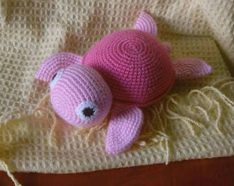 Turtle - soft crochet toy
