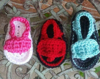 Baby Flip Flops, Crochet, Sandals, Baby Shoes, Flip-flops,  Baby Shower Gift