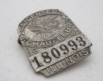 Illinois Chauffeur License Pin