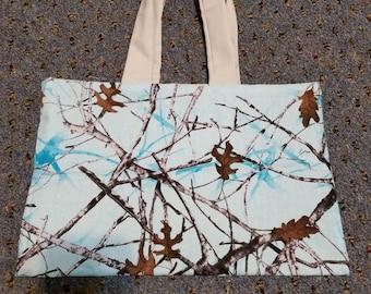 """11"""" x 14"""" blue camo purse"""
