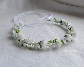 Kids flower crown Todlers floral headband Princess flower crown Girls hair wreath children flower crown hair accesories girls