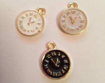 Gold enamel clock/pendulum