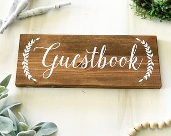 Guestbook Sign / Guestbook / Wedding Sign / Wedding Decor / Guestbook Table Decor / Table Decor