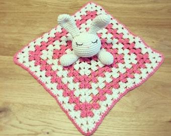 PDF PATTERN ONLY Bunny Rabbit Snuggle Crochet Comfort Blanket Baby Children Toy