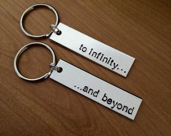 To Infinity and Beyond keychain - Couples keychain - Best Friends keychain