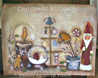 Christmas Blessings - Painted by Terrye French, E-Pattern