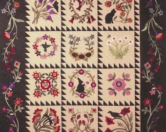 SALE!! Complete Set - Folk Art Album Quilt Pattern by Primitive Gatherings