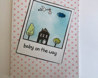 Congratulations on new baby   card new handmade