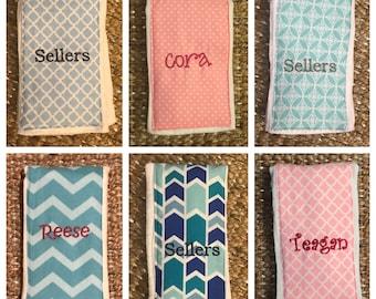 Burb Cloth Personalized- Choose fabric!