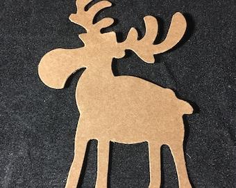 """Moose Die Cut - set of 10 Brown  3"""""""