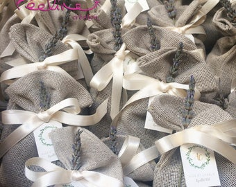 Personalized wedding linen Lavender bags