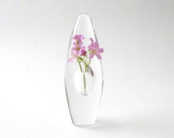 Modernist Timo Sarpaneva Orchid Vase Iittala Finland  Orkidea 5 inch