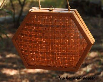 Vintage Rafael Sanchez Designer Purse Basket Weave Woven Wicker Purse