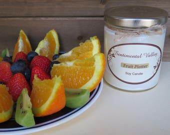 Fruit Platter Soy Candle, Fruit Soy Candle, Citrus Candle, Berry Candle, Scented Soy Candle, Natural Soy Candle, Summer Soy Candle, Gifts