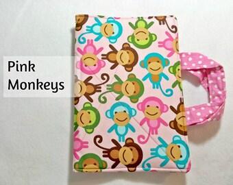 Pink Monkeys Crayon Tote Wallet - Toddler Child