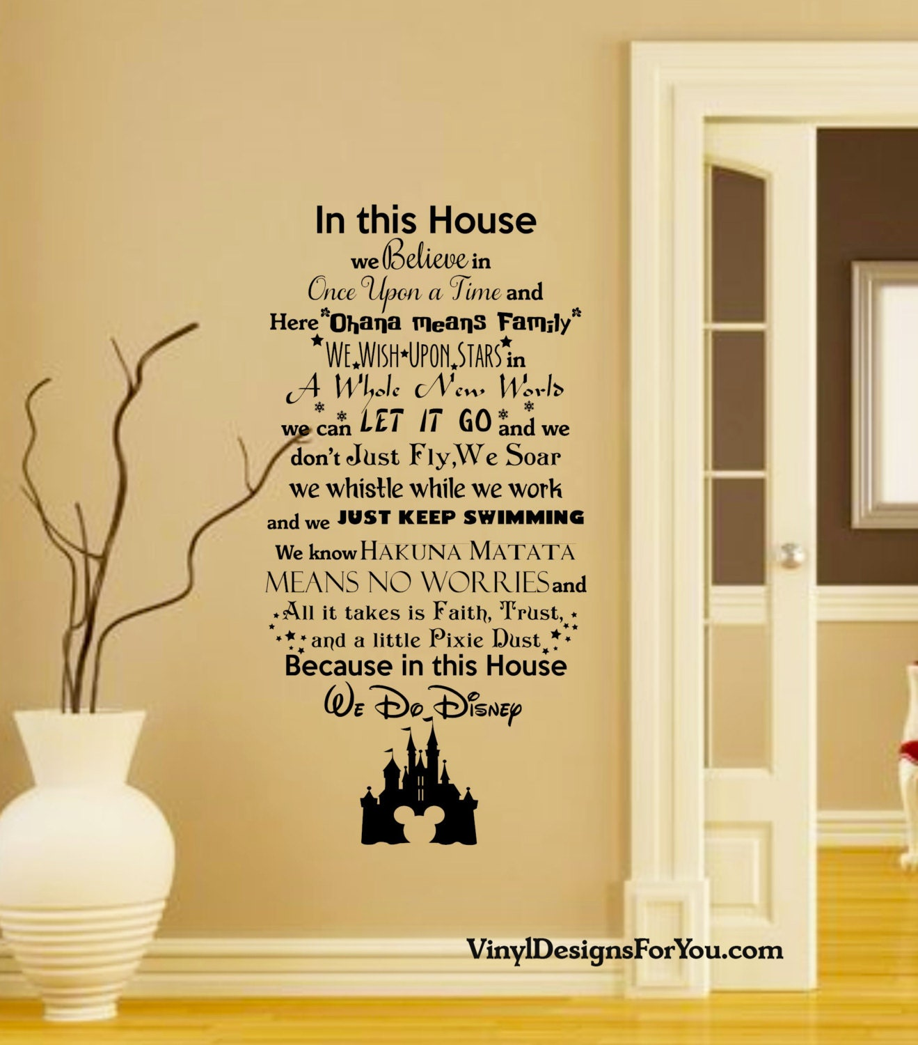 In this house we do disney wall decal with mickey mouse zoom amipublicfo Image collections