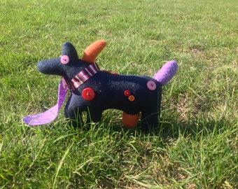 DerpDog - Quirky, cute, handmade plushie - Soft toy/ Plushie/ Stuffed animal