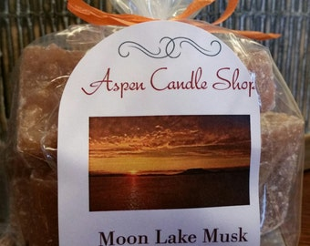 Tart Melts - MOON LAKE MUSK - 6 oz  -  (Clam Shells are only 2- 3 oz's) - scented candle - Free Shipping!