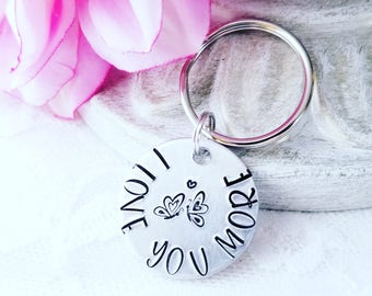 Butterfly Keychain, Long Distance Keychain, BFF Keychain, Love Keychain, Long Distance Relationship, Mother's Day Gift, I Love You More Gift