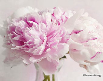 Digital Download Peony Flower Photo Print, Botanical, Flower Photography