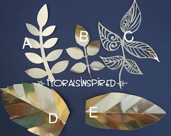 Paper Leaves for your Handmade Paper Flowers/Backdrops/Paper Flower walls. Set of 12