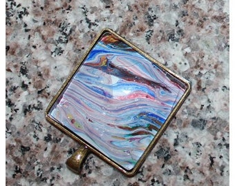 Hand Painted Bronze Pendant (4)