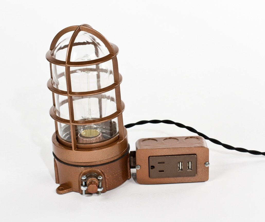 of with desk bedside height port image usb hub table lamp picture