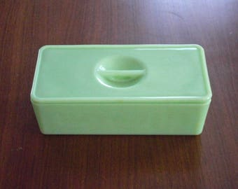 Vintage Jadeite Jadite Left Over Refrigerator Container or Box by Jeannette Glass Co.
