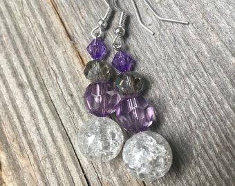 Fancy Lilac earrings