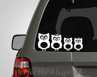 Owl Family Car Decal