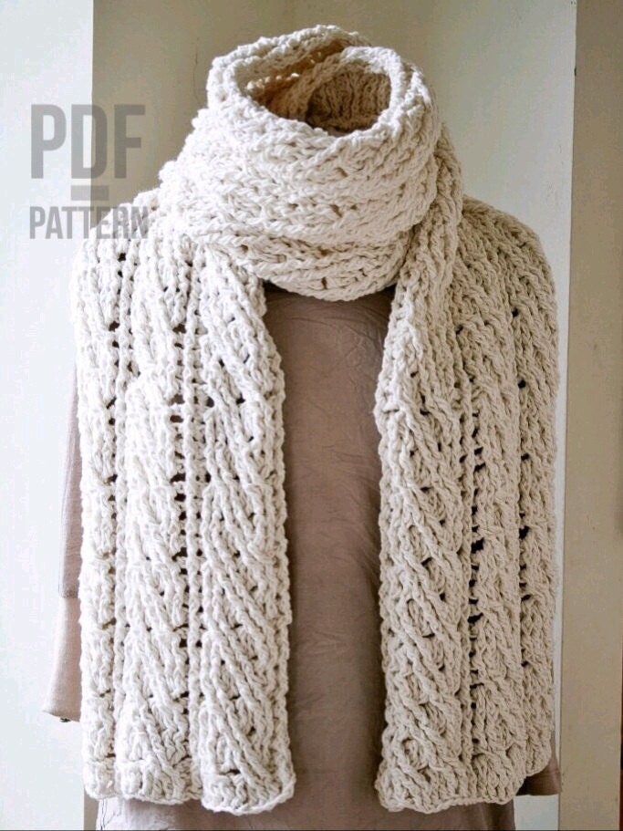 Crochet Scarf Pattern The Sullivan Crochet Scarf Pattern
