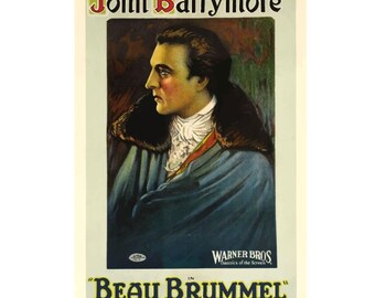 Beau Brummel (1924) Vintage Canvas Movie Poster Giclee Art Print - John Barrymore Gallery Wrapped
