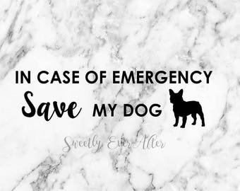 In Case Of Emergency Pet Safety Decal Sticker - CUSTOM - Any Animal Pet Type - Save Our Pet - Pet Rescue - Home Sticker