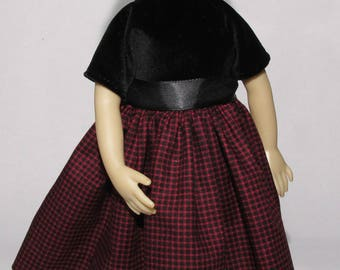 13-14 inch Doll, Little Darling and Betsy McCall Red and Black Dress