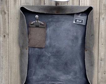 Industrial Conveyor Belt Chalk BoardVintage Repurposed   Magnetic Board Combo